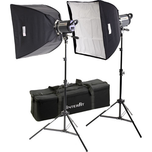 Image from B&H Photo of the Interfit's Stellar Tungsten Two Light Twin Softbox Kit