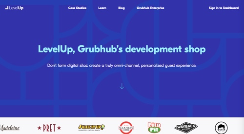 Home page of LevelUp