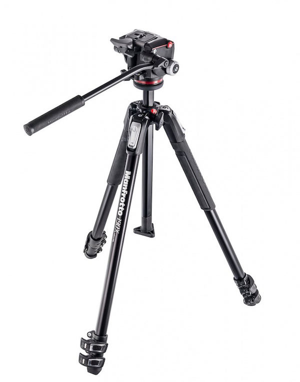 Image of Manfrotto's 190x 3-Section Tripod with XPRO Fluid Head at Manfrotto.com.