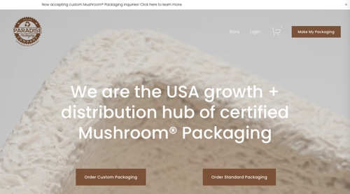 Home page of Paradise Packaging