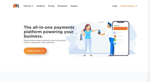 Home page of Payanywhere