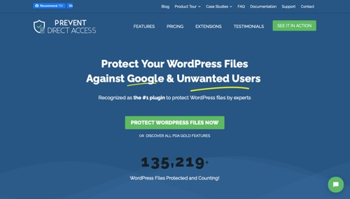 Home page of Prevent Direct Access