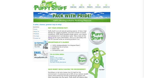 Home page of Puffy Stuff