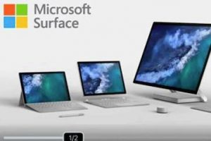 Screenshot of Microsoft Surface ad from BeOp