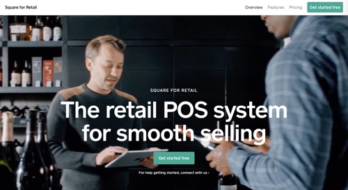Home page of Square