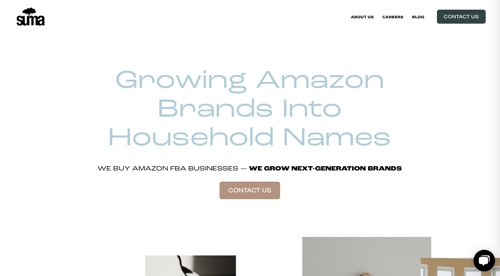 Home page of Suma Brands