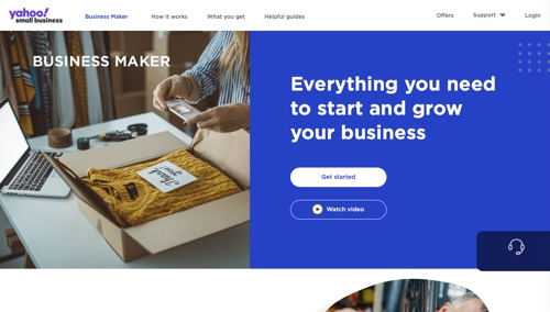 Home page of Business Maker at Yahoo Small Business
