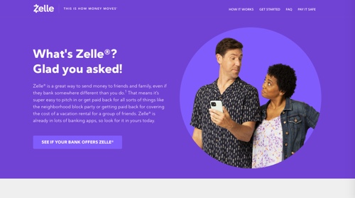 Home page of Zelle