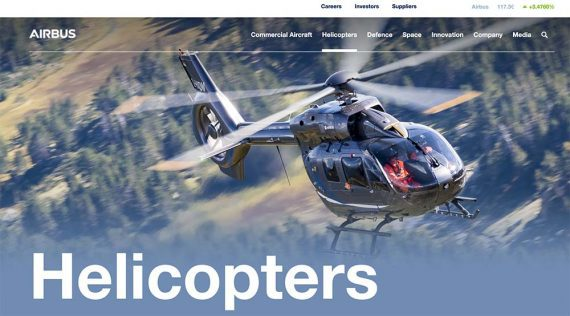 Home page of Airbus Helicopters
