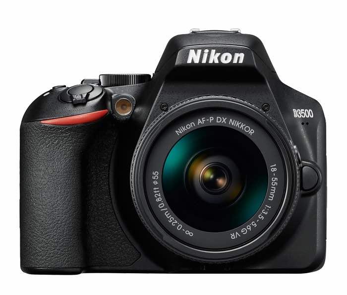 Photo from NikonUSA.com of a Nikon D3500 camera.
