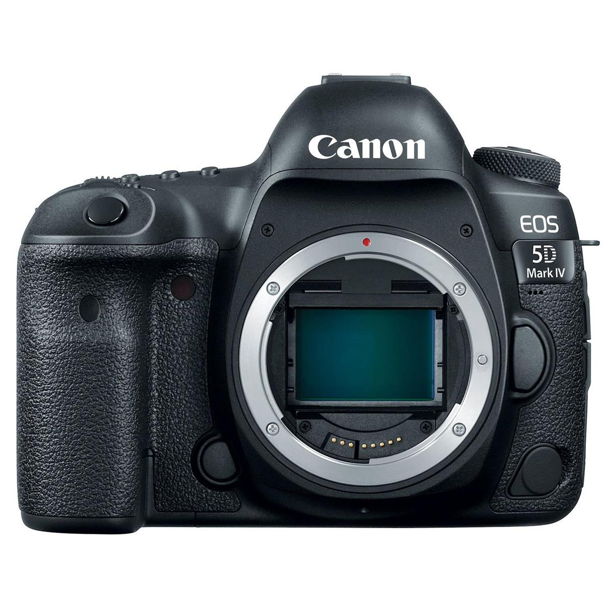 Photo from Amazon of a Canon EOS 5D Mark IV camera.