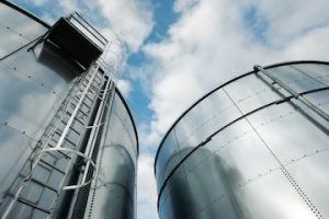 Photo of oil refinery storare tanks