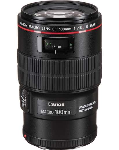 Photo of a Canon Macro 100mm lens from B&H Photo