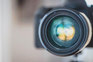 Close-up photo of a camera lense