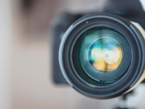 Photo of a camera lens