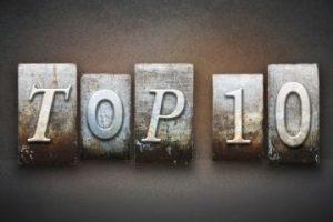 """Illustration of a letterstamp reading """"Top 10"""""""