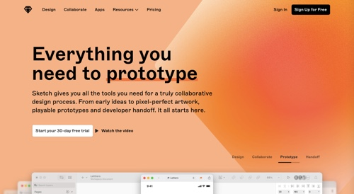 Home page of Sketch
