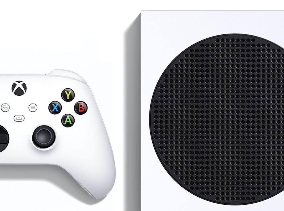 Photo from Walmart.com of the top of an Xbox and its controller