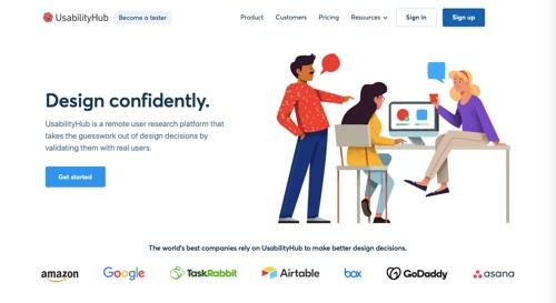 Home page of UsabilityHub