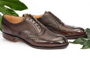 Picture of a pair of brown men's shoes from the Joseph Cheaney & Sons website.