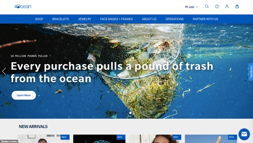 Home page of 4ocean