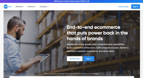 Home page of Cart.com