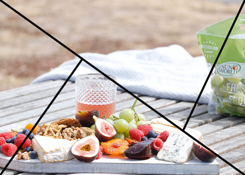 Photo from Creativelysquared of food on a table apply the Golden Triange rule