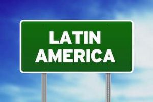 """Road sign that reads """"Latin America"""""""