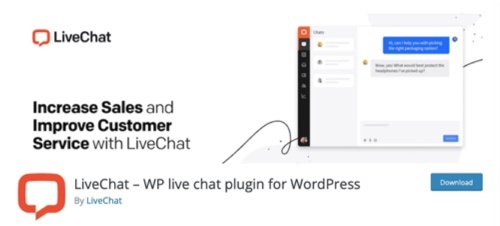 Home page of LiveChat