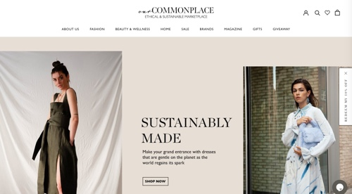 Home page of Our Commonplace