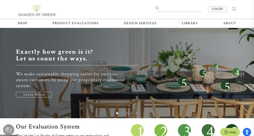 Home page of Shades of Green
