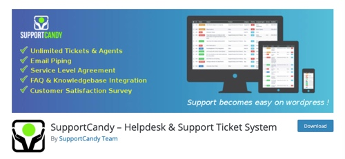 Home page of SupportCandy