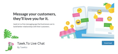 Home page of Tawk.To Live Chat
