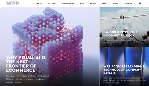 Home page of WPP