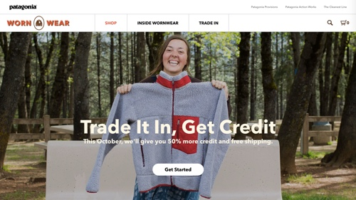 Home page of Worn Wear - Patagonia