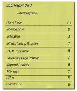 SEO report card for Juvieshop.com