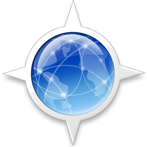 Camino Logo is a blue global with white compass points