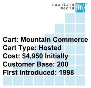Mountain Commerce costs about $4,950 initially