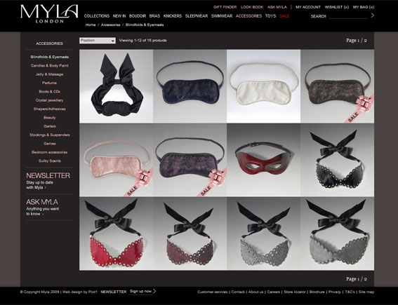 Myla Product Category Page