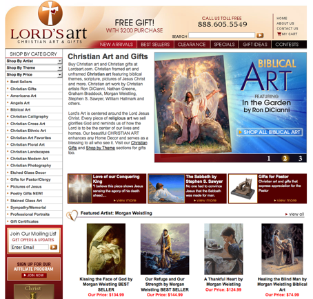 Lord's Art home page.