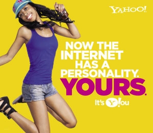 Sample from the new Yahoo! advertising campaign.