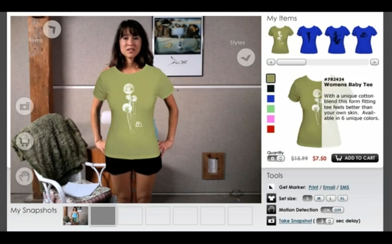 The virtual clothing rack at Zugara.com lets customers 'try on' clothing.