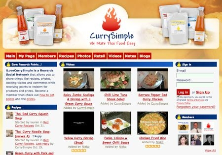 Screenshot of Ilovecurrysimple.com.
