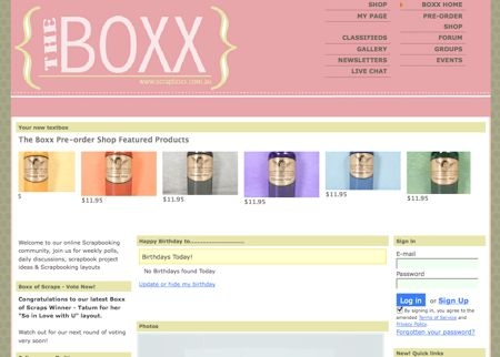 Screenshot of TheBOXX.