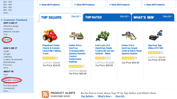 "Toys""R""Us screenshot."