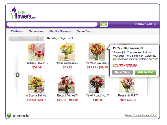 Screenshot of 1-800-FLOWERS.COM Facebook main page.