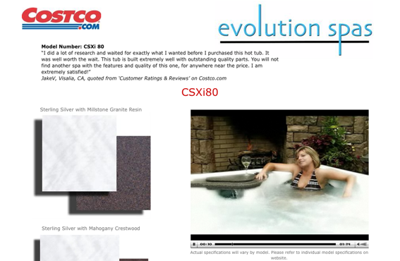 Screen capture of a sample video for Costco.
