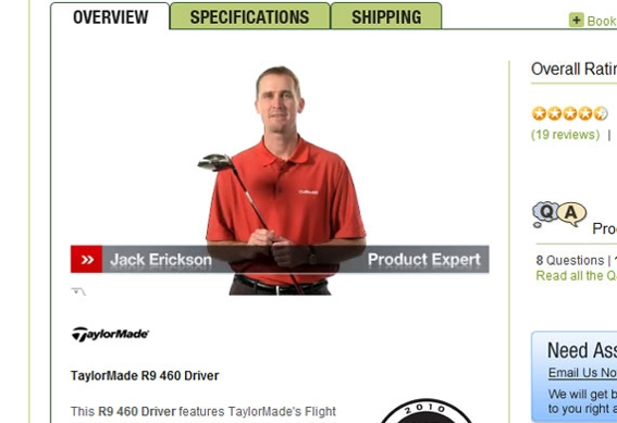 Golfsmith, screen capture linking to video page.