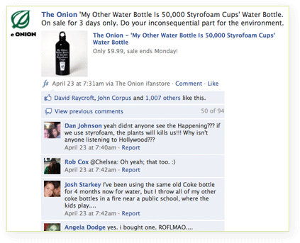 Example 1 of Milyoni's Social Engagement wall post.