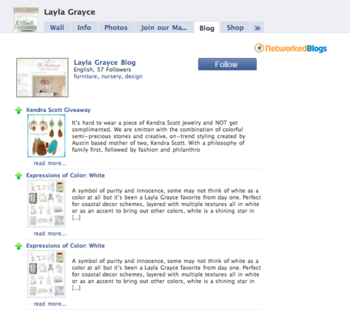 Layla Grayce's Blog tab is powered by NetworkedBlogs.